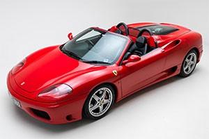 Hire a Ferrari 360 Spider
